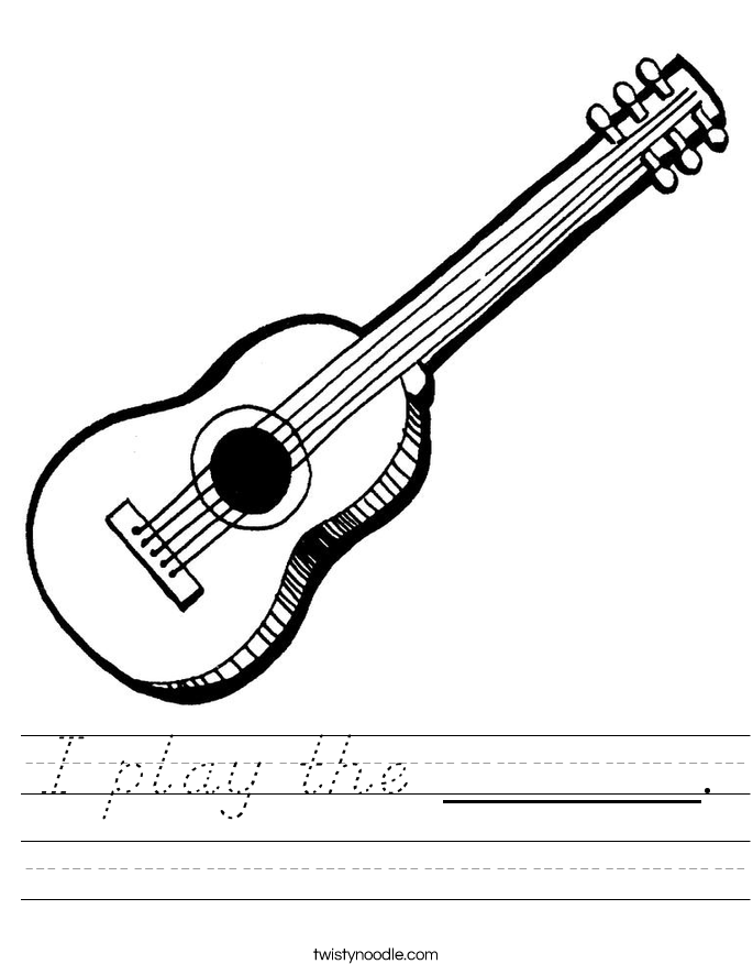 I play the ______. Worksheet