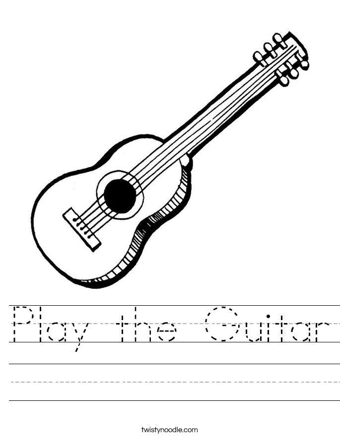 Play the Guitar Worksheet