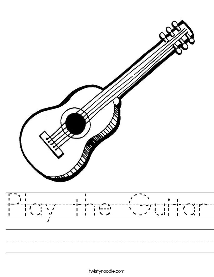 Play the Guitar Worksheet