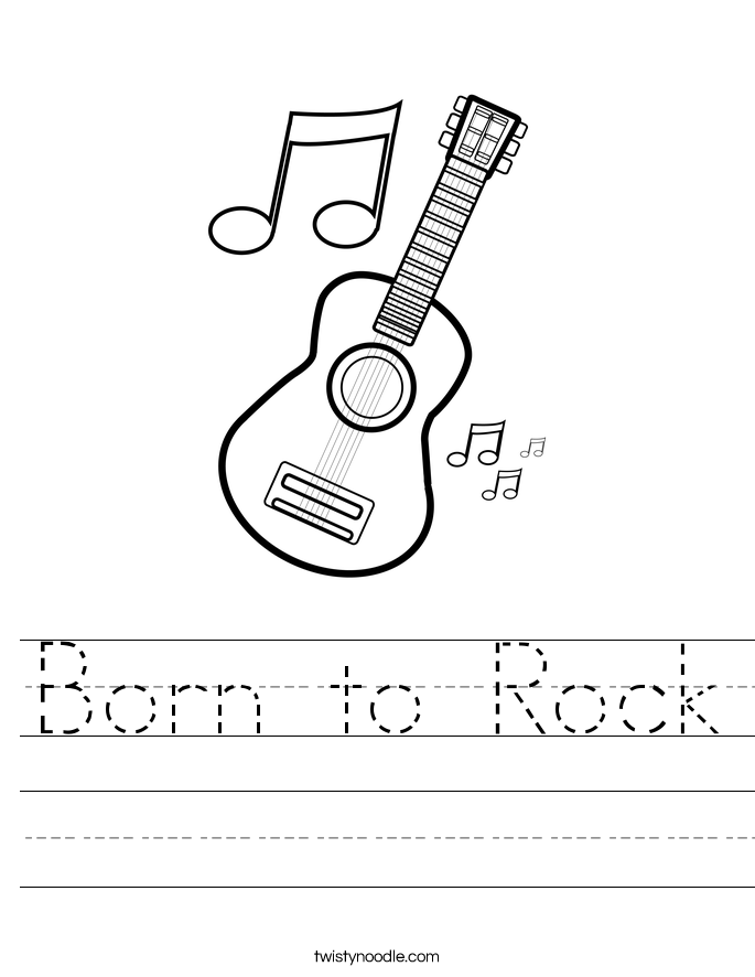 Born to Rock Worksheet