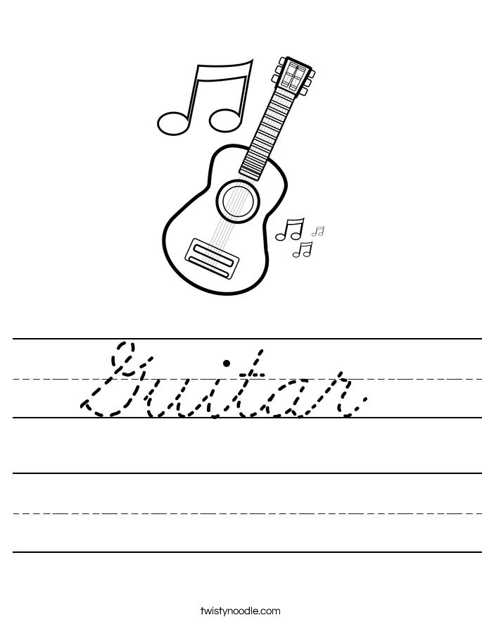 Guitar Worksheet