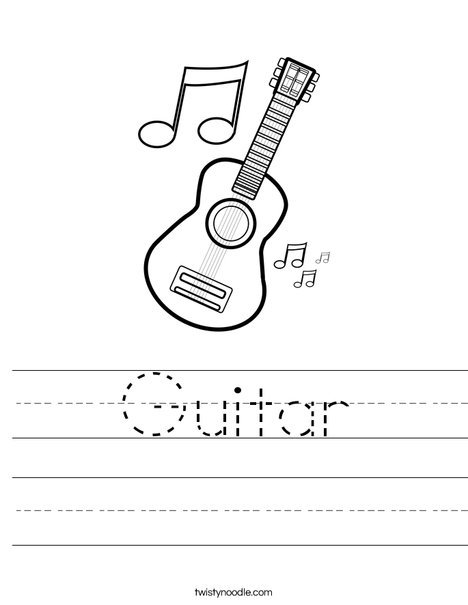 Guitar Worksheet Twisty Noodle