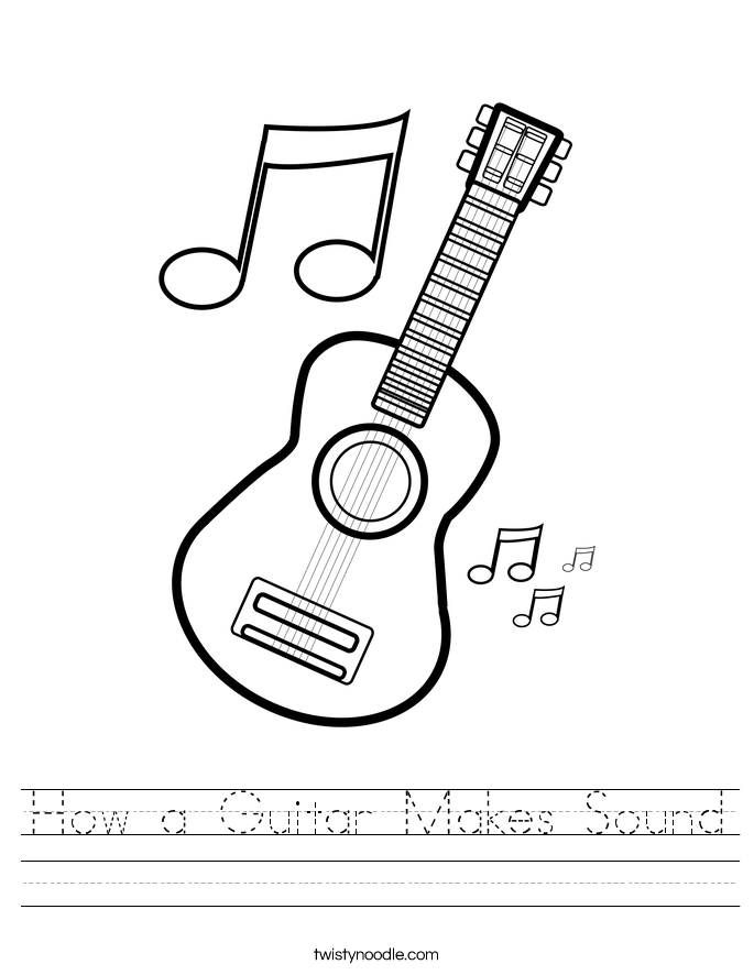How a Guitar Makes Sound Worksheet