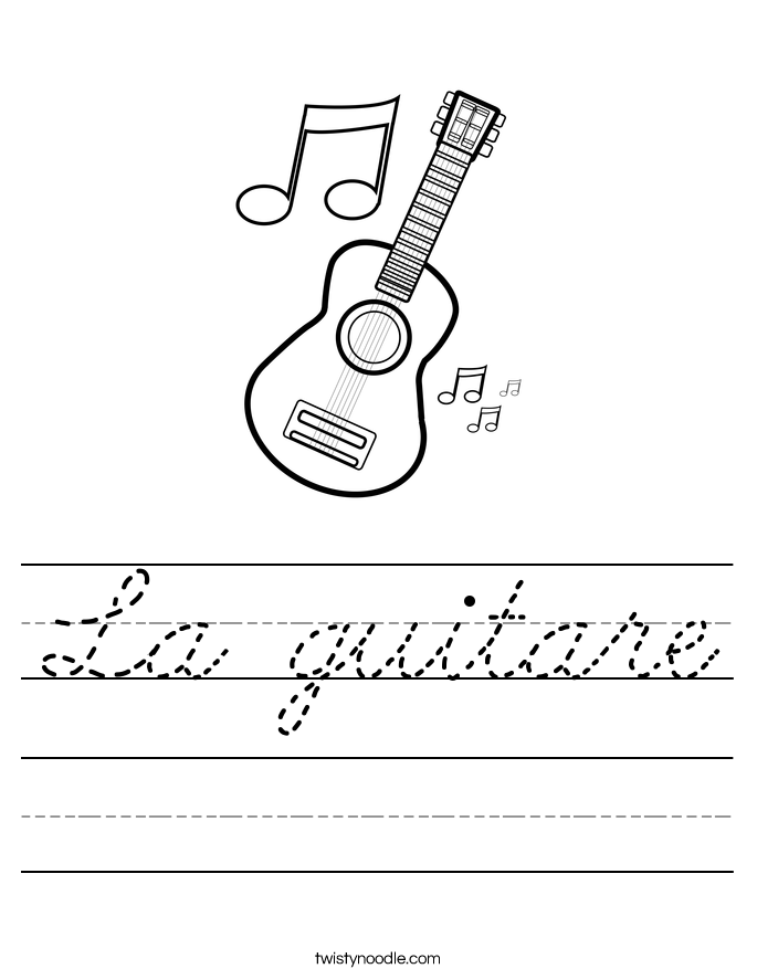 La guitare Worksheet