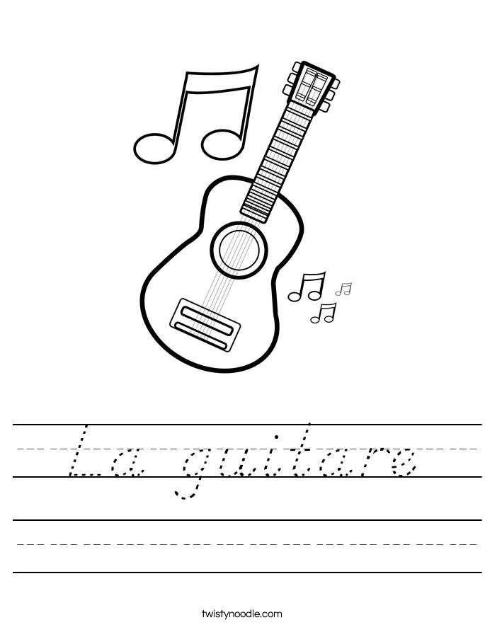 La guitare Worksheet