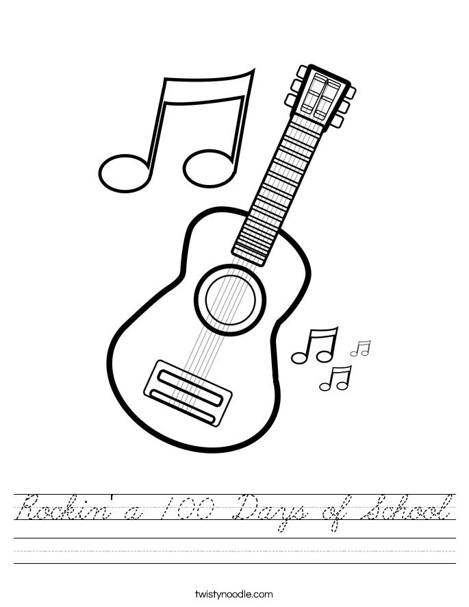Rockin' a 100 Days of School Worksheet