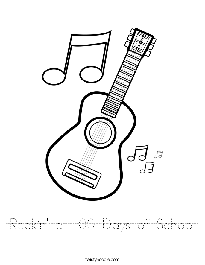 Rockin' a 100 Days of School Worksheet