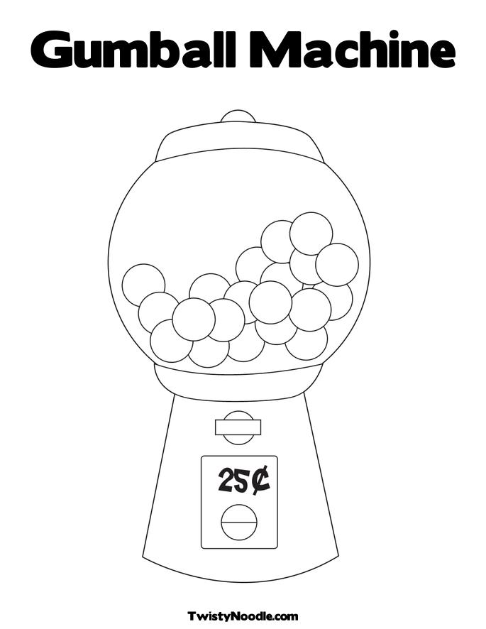empty gumball machine coloring pages | Gumball Coloring Sheet Coloring Pages
