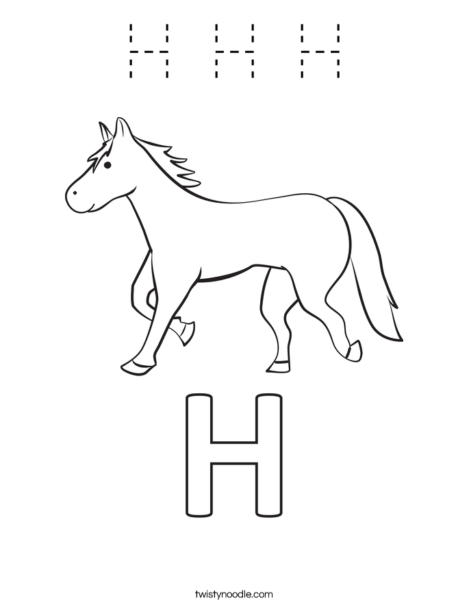 H H H Coloring Page