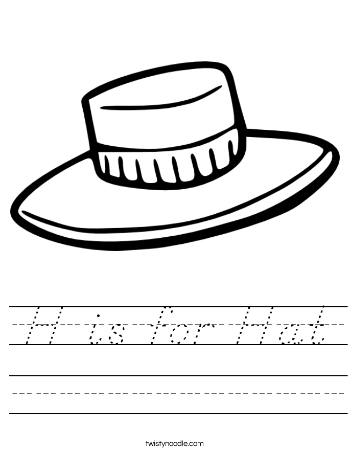 H is for Hat Worksheet