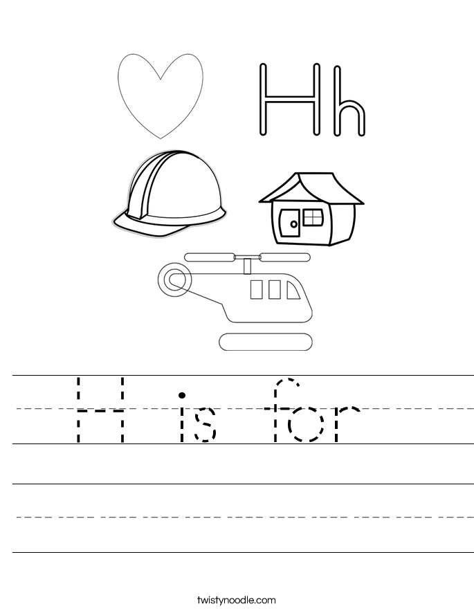 Tracing Letter H Worksheet
