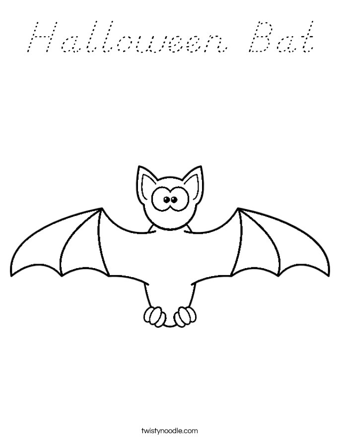 Halloween Bat Coloring Page