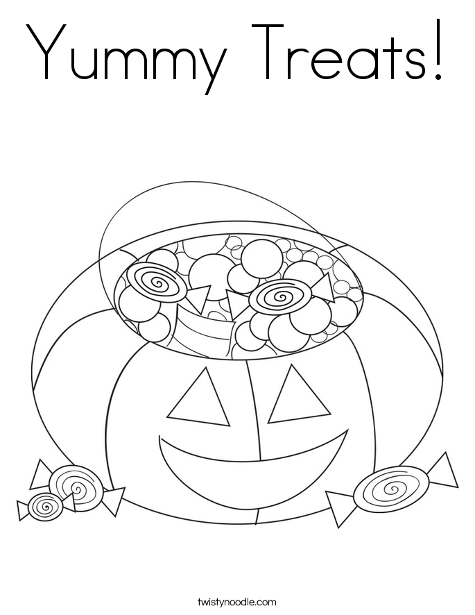 Yummy Treats! Coloring Page