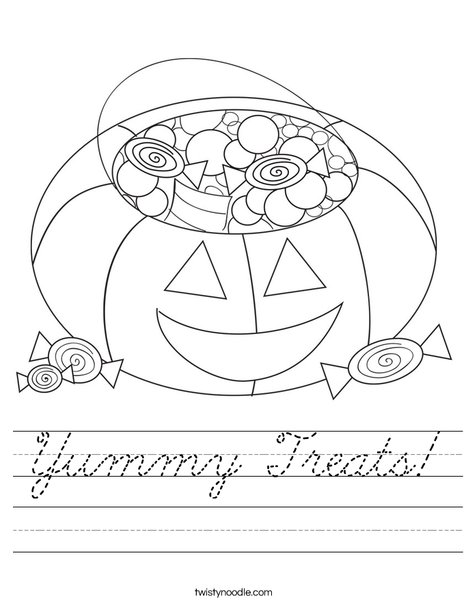 Halloween Candy Worksheet