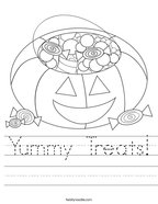 Yummy Treats Handwriting Sheet