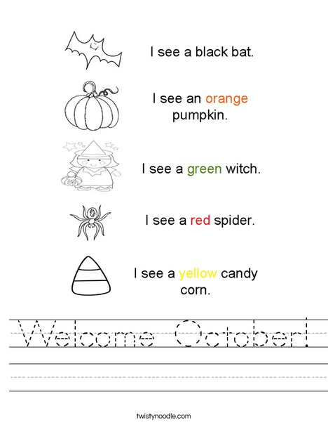 Halloween Colors Worksheet