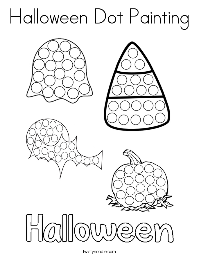 Halloween Dot Painting Coloring