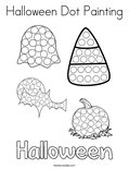 Halloween Dot Painting Coloring Page