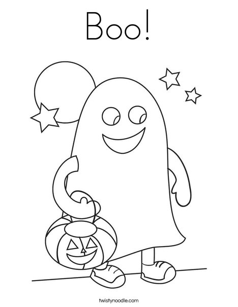 Boo Coloring Page Twisty Noodle