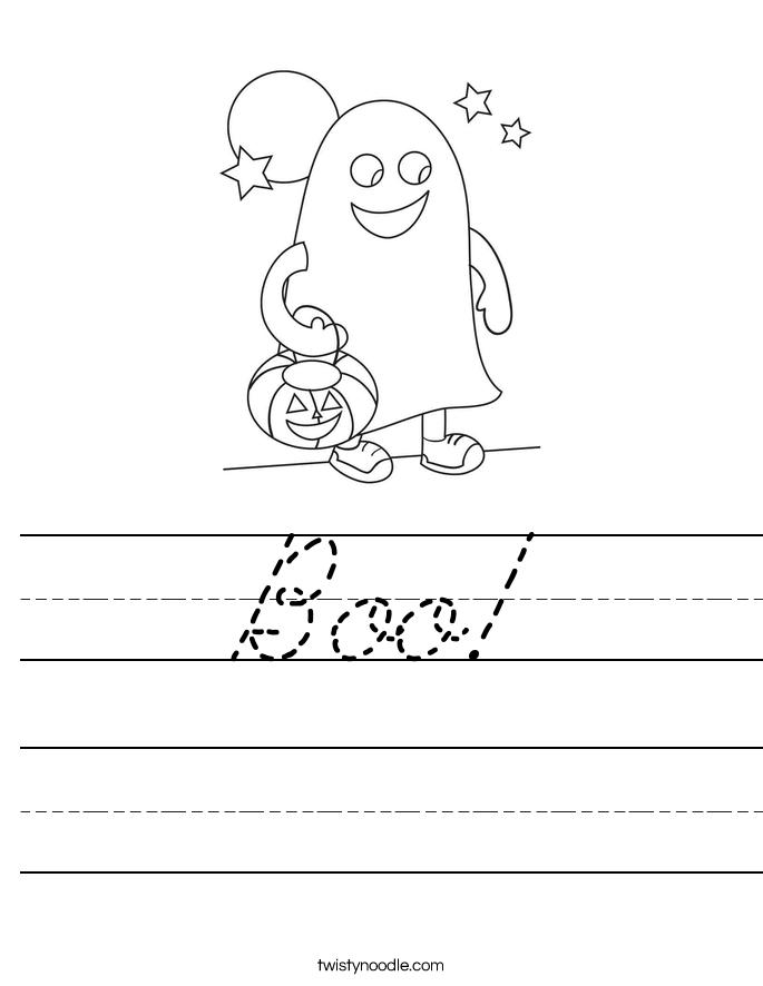 Boo! Worksheet