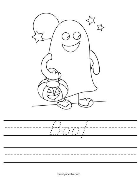 Halloween Ghost Worksheet