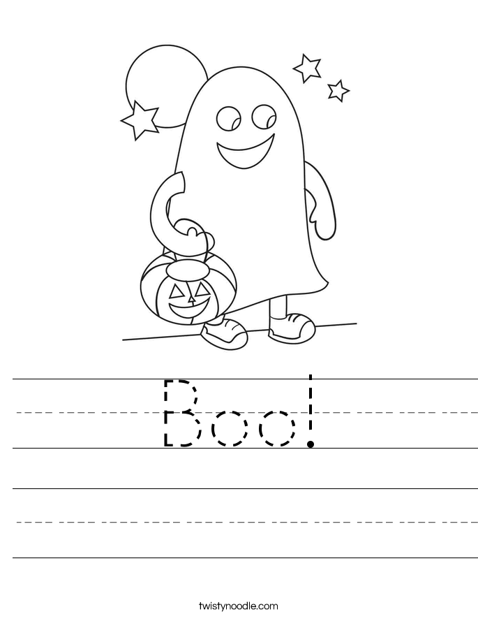 Boo! Worksheet