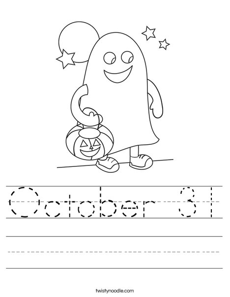 Halloween Ghost Worksheet