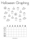 Halloween Graphing Coloring Page