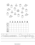 Halloween Graphing Handwriting Sheet