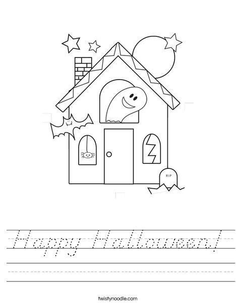happy halloween worksheet d 39 nealian twisty noodle. Black Bedroom Furniture Sets. Home Design Ideas