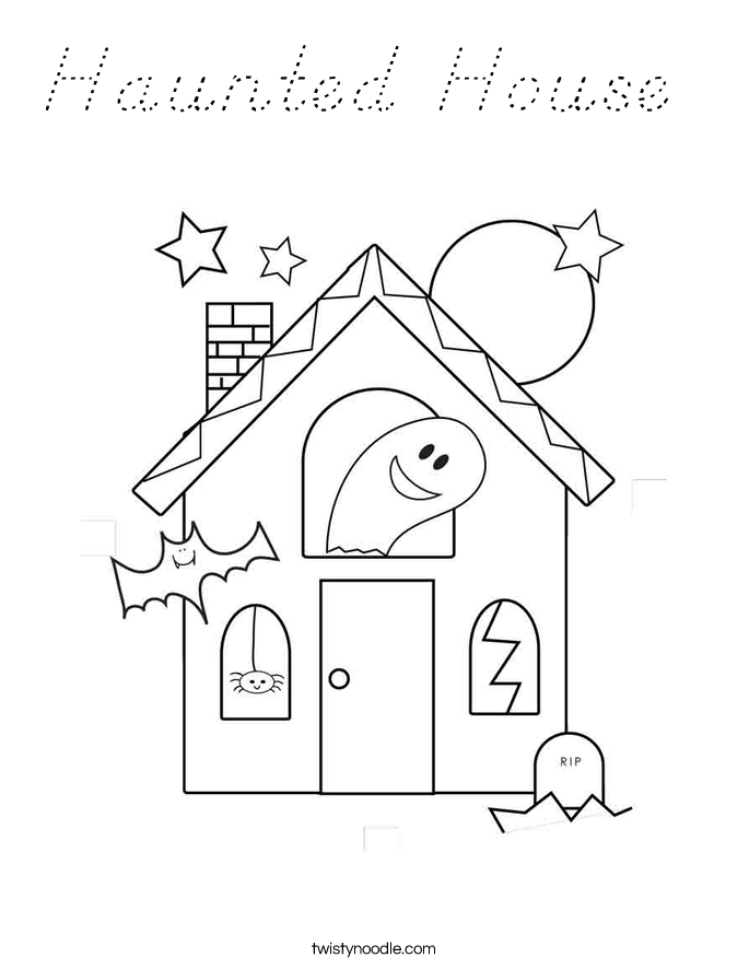 coloring pages haunted house - photo#9
