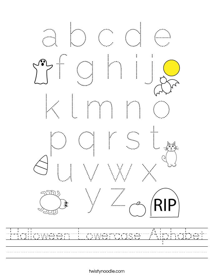 Halloween Lowercase Alphabet Worksheet