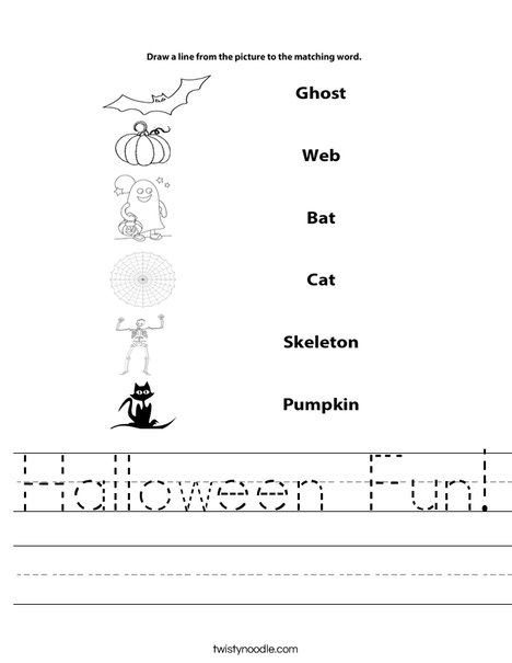 Halloween Matching Worksheet