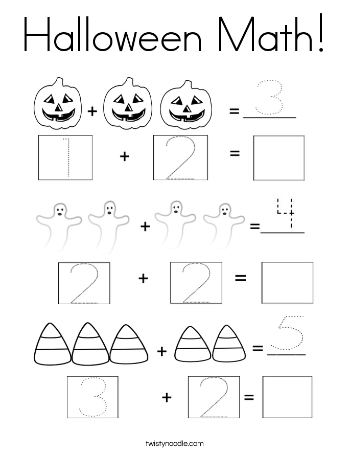halloween math coloring page - Coloring Pages Addition Facts