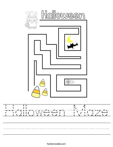 Halloween Maze Worksheet