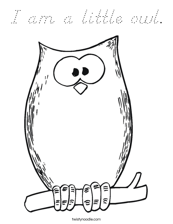 I am a little owl coloring page d 39 nealian twisty noodle for Little quack coloring pages