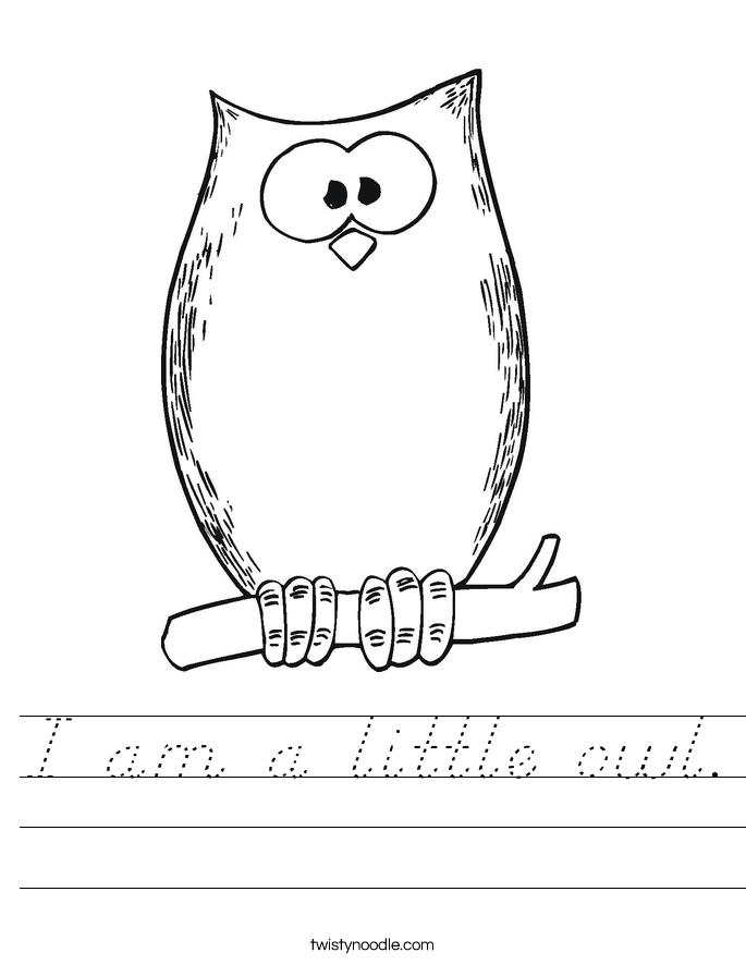 I am a little owl. Worksheet