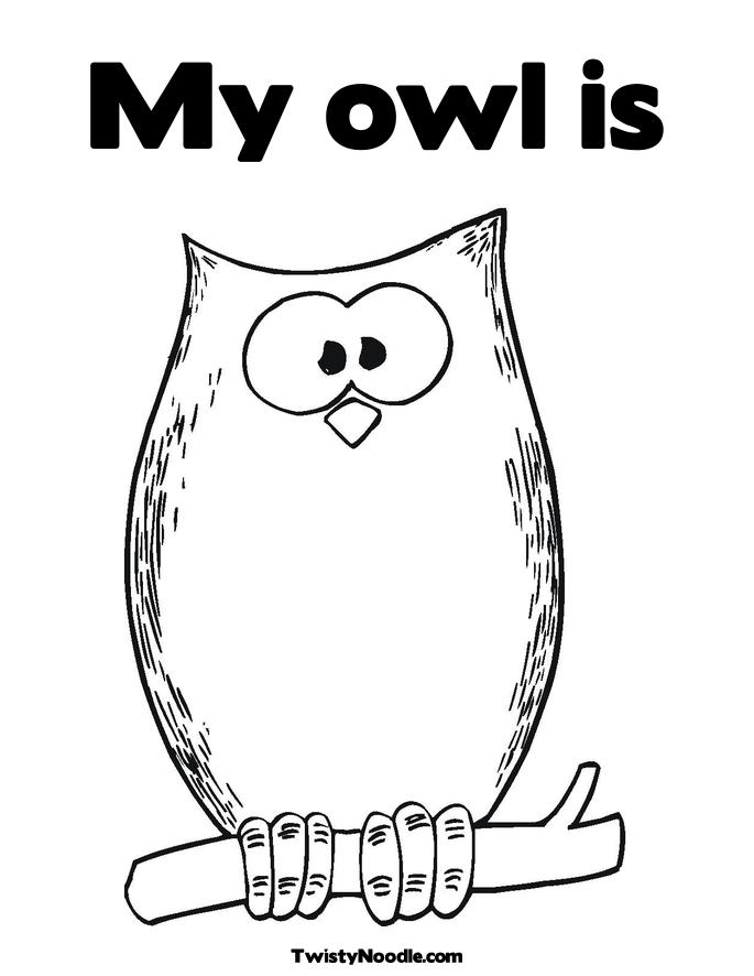 cute halloween owl coloring pages 340x340 cute