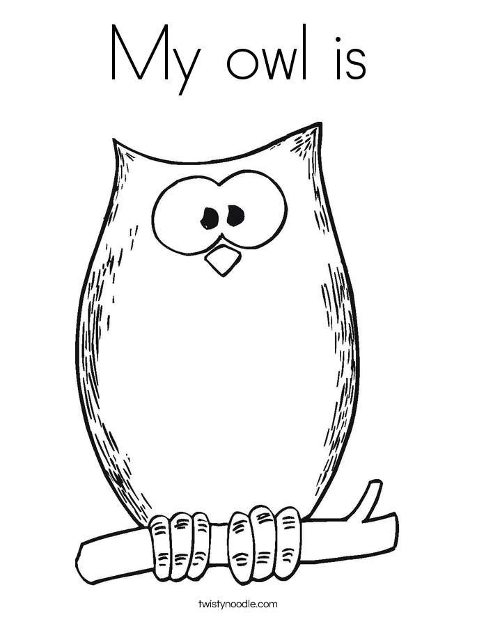 My owl is Coloring Page