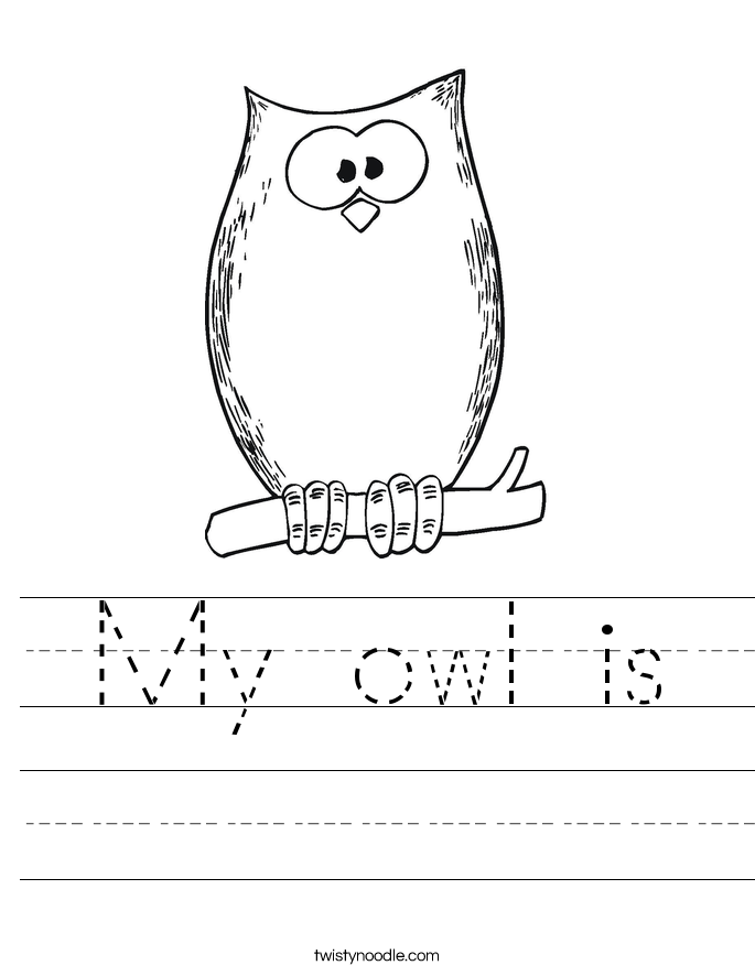 My owl is Worksheet