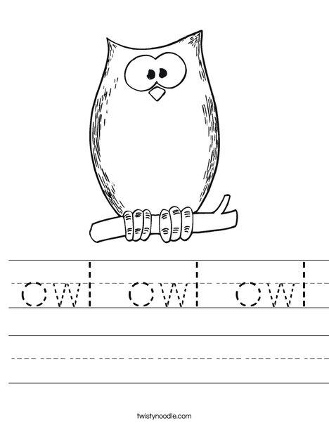Halloween Owl Worksheet