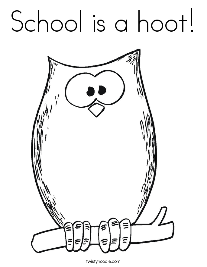 School is a hoot! Coloring Page