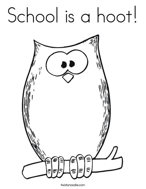 School Owl Coloring Page Halloween Owl Coloring Page