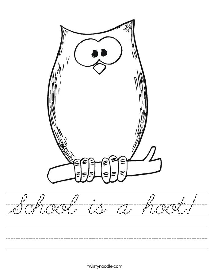 School is a hoot! Worksheet