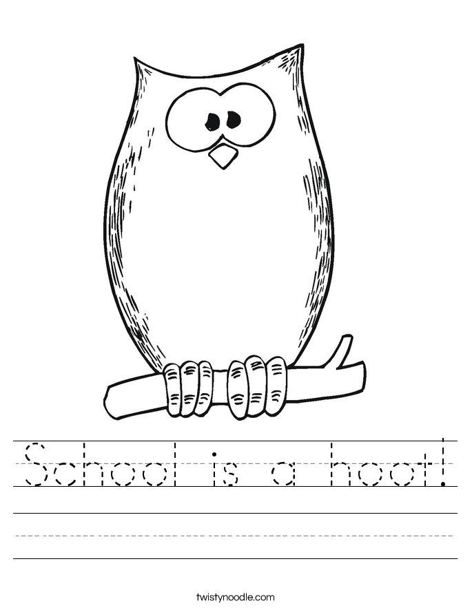 School is a hoot! Worksheet