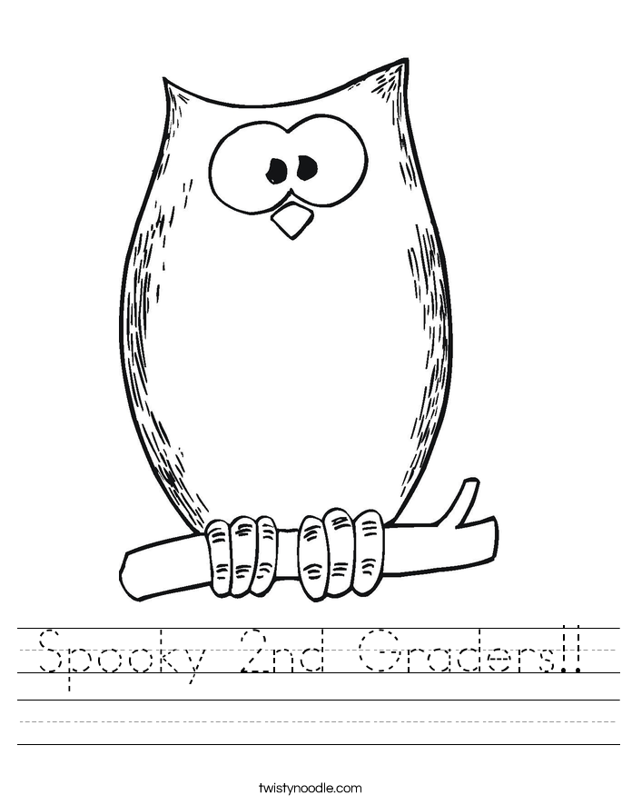 Spooky 2nd Graders!! Worksheet