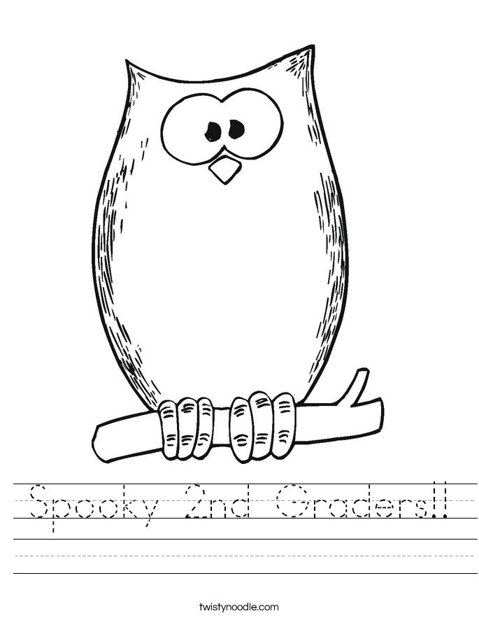 Spooky 2nd Graders!! Worksheet