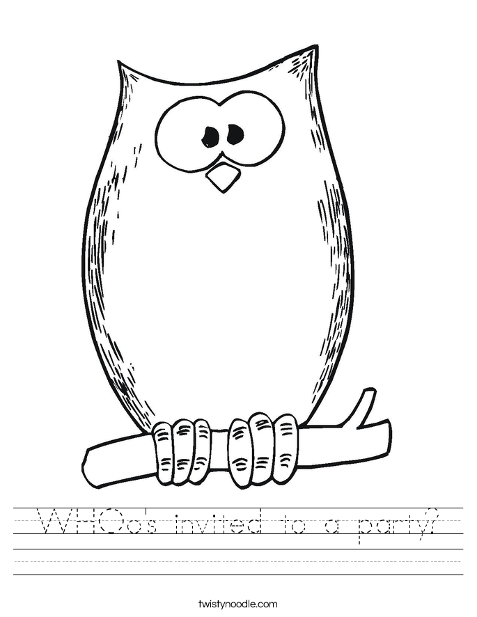 WHOo's invited to a party? Worksheet