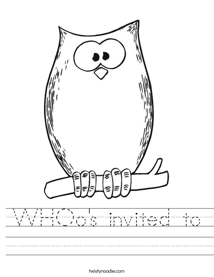 WHOo's invited to Worksheet