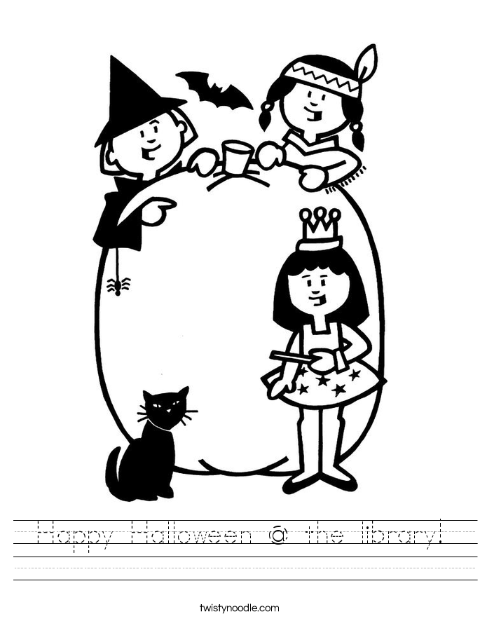 Happy Halloween @ the library! Worksheet